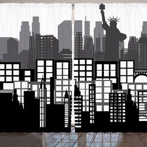 "Curtains 108""W x 84""L New York City Print Backdrop"